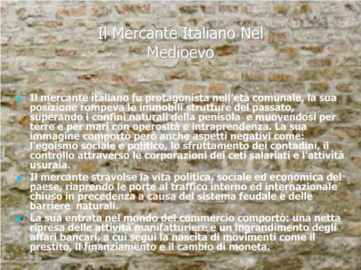 Il Mercante Italiano Nel