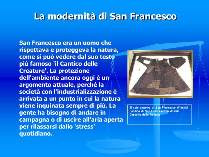 Il saio cinerino di San Francesco d'Assisi