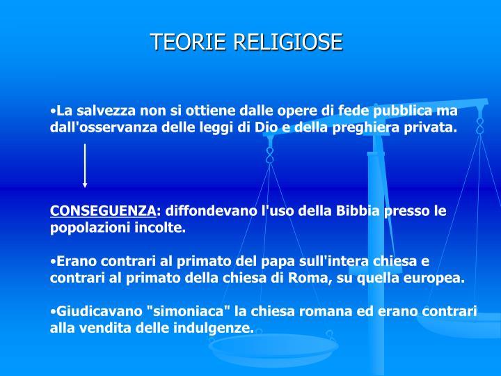 TEORIE RELIGIOSE