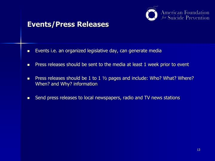 Events/Press Releases