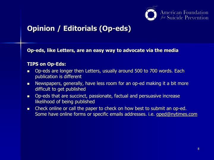 Opinion / Editorials (Op-eds)
