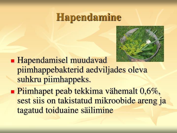 Hapendamine