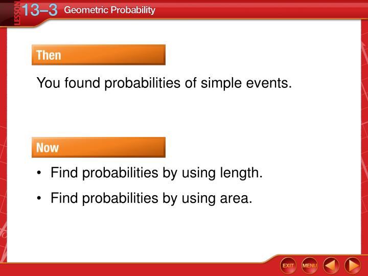 You found probabilities of simple events.