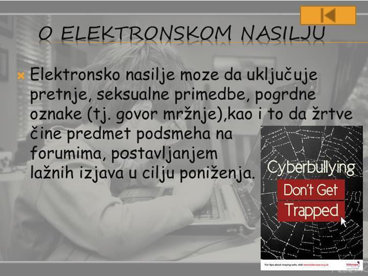 Elektronsko nasilje moze