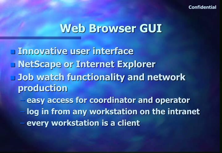 Web Browser GUI