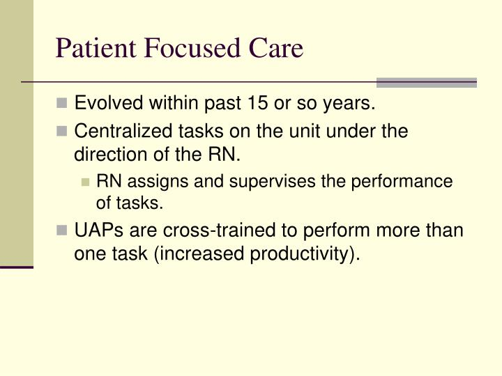 patient focused care February 2015 page 1 of 5 the british columbia patient-centered care framework introduction providing patient-centered care is the first of eight priorities for the b.