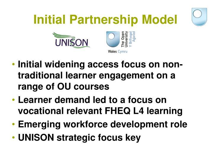 Initial Partnership Model
