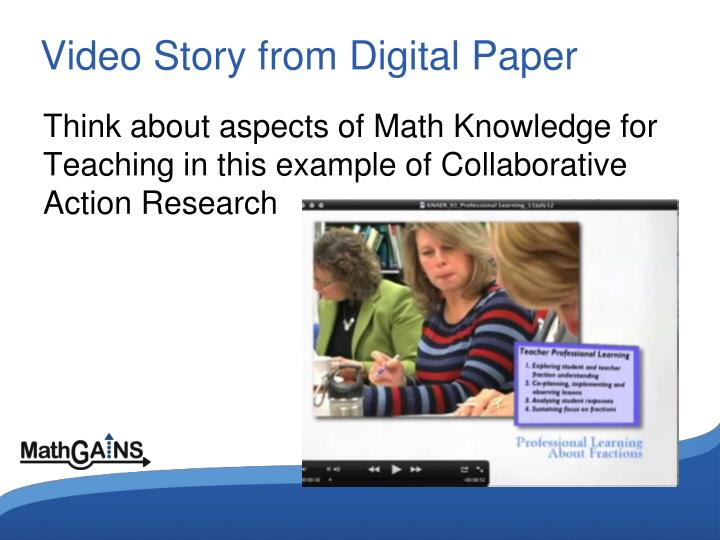 Video Story from Digital Paper