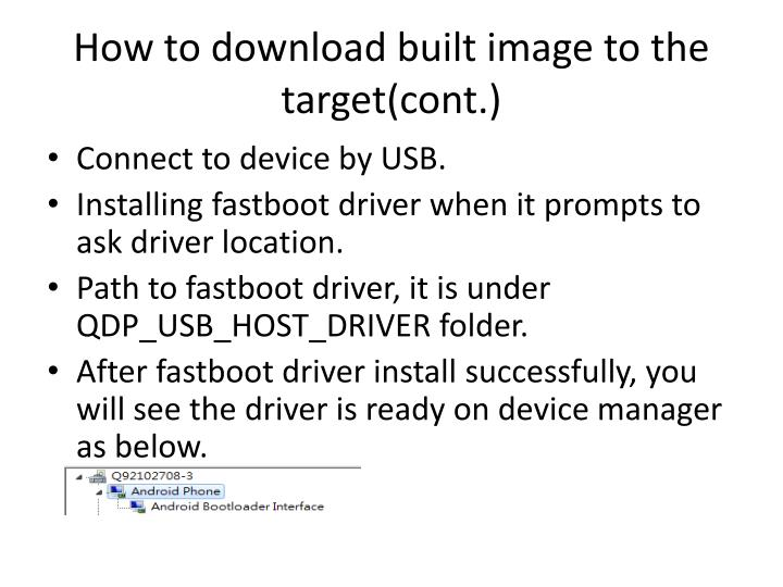How to download built image to the target(cont.)
