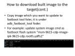 how to download built image to the target cont1
