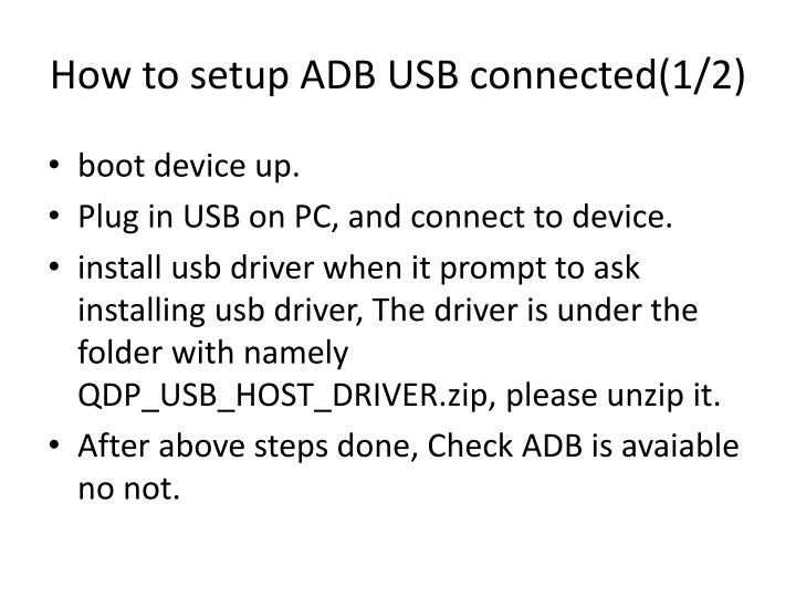 How to setup ADB USB connected(1/2)
