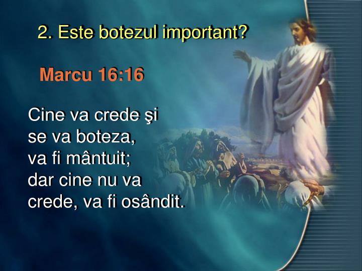 2. Este botezul important?
