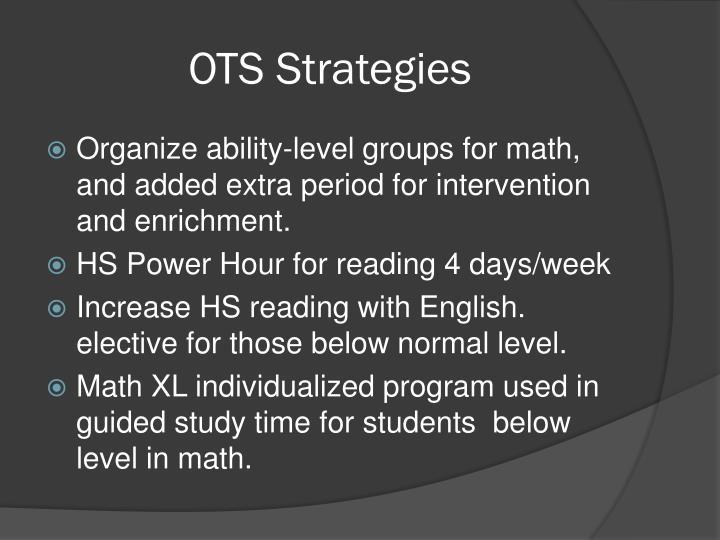 OTS Strategies