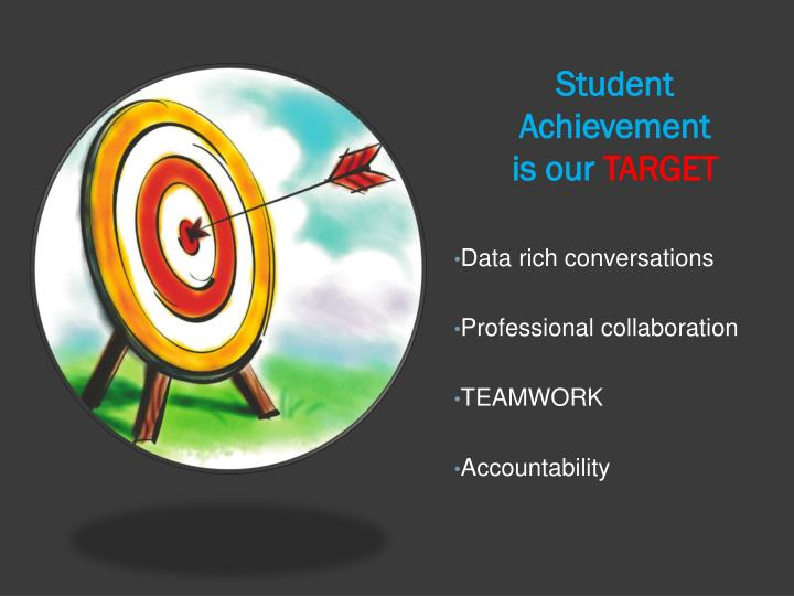 Student achievement is our target