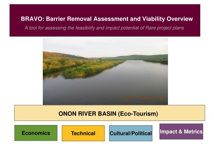 Bravo barrier removal assessment and viability overview