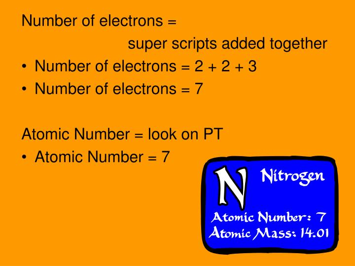 Number of electrons =