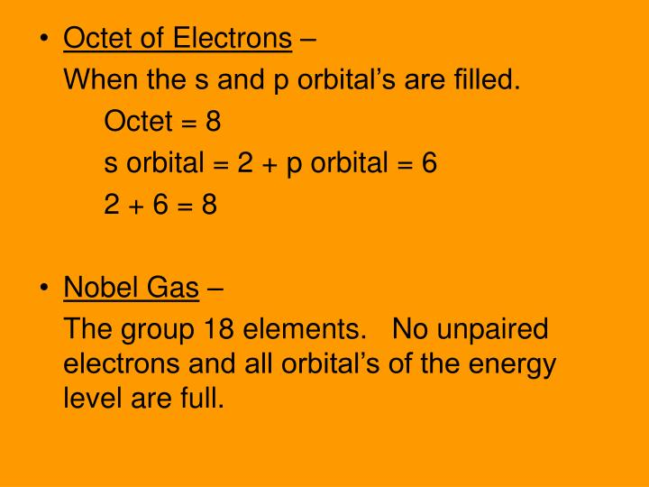 Octet of Electrons
