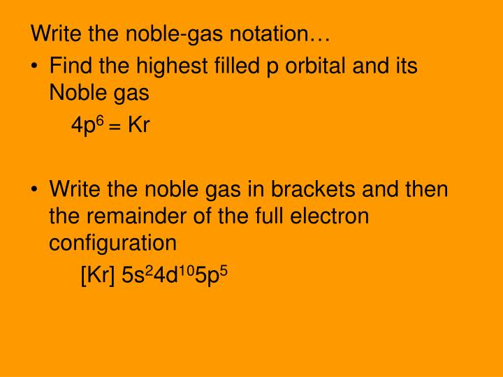 Write the noble-gas notation…