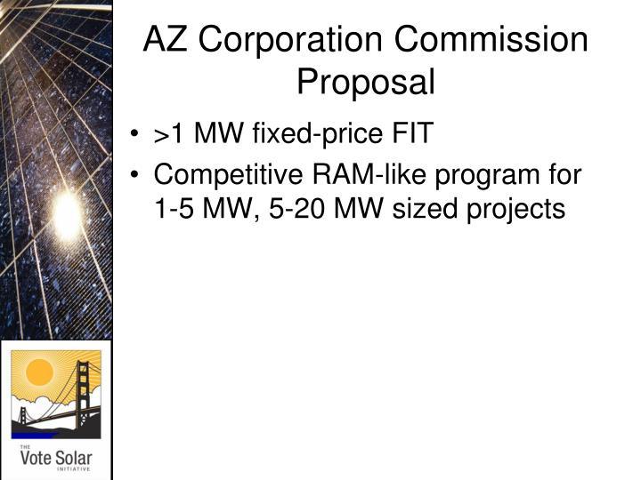 AZ Corporation Commission Proposal
