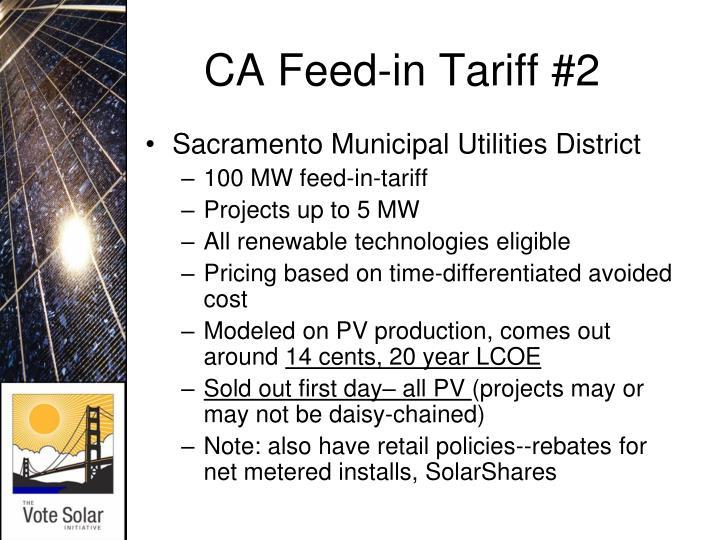 CA Feed-in Tariff #2