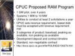 cpuc proposed ram program