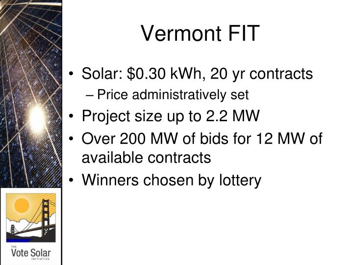 Vermont FIT