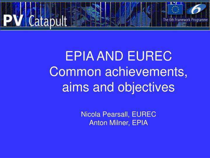 EPIA AND EUREC