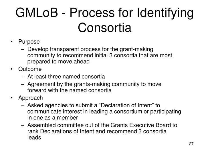 GMLoB - Process for Identifying Consortia