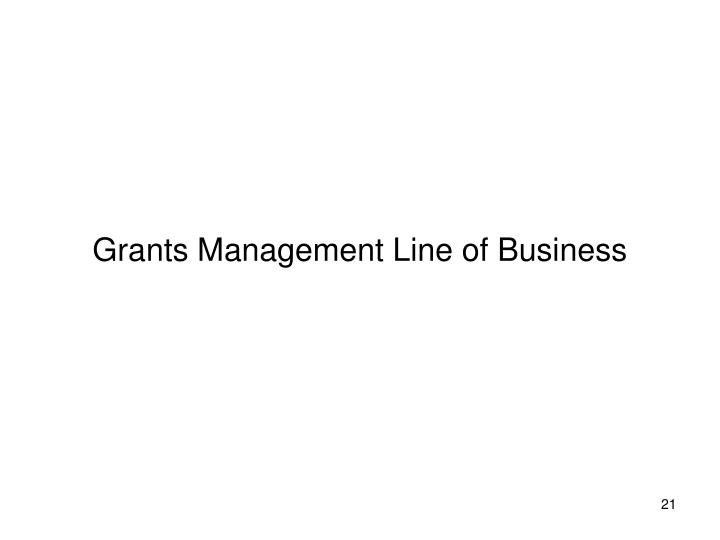 Grants Management Line of Business
