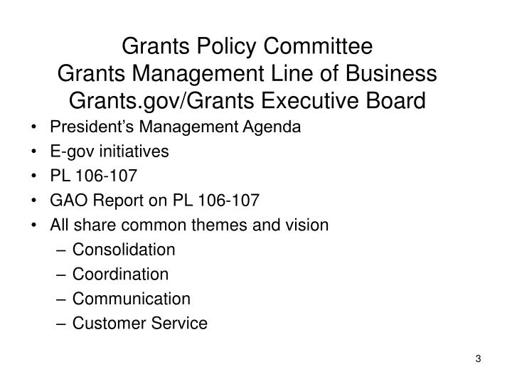 Grants Policy Committee