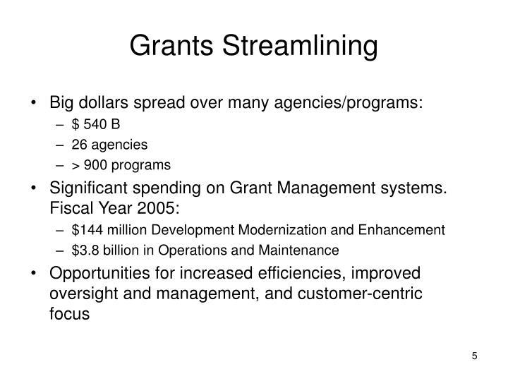 Grants Streamlining