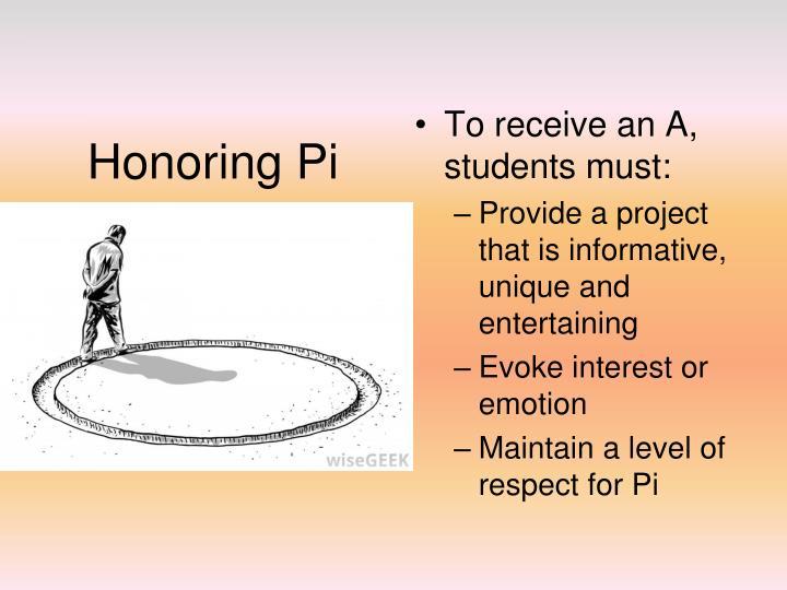 Honoring Pi