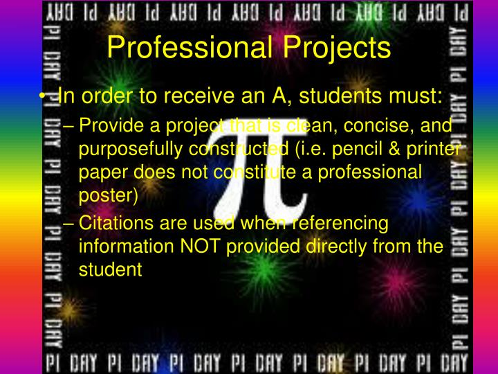 Professional Projects