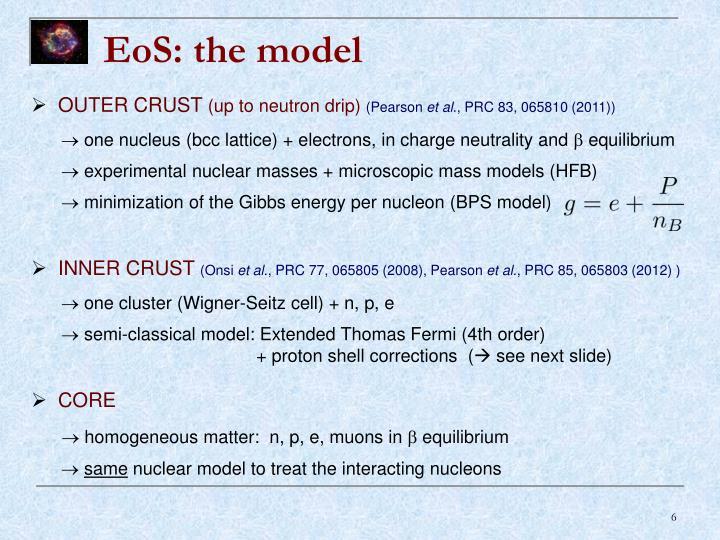 EoS: the model