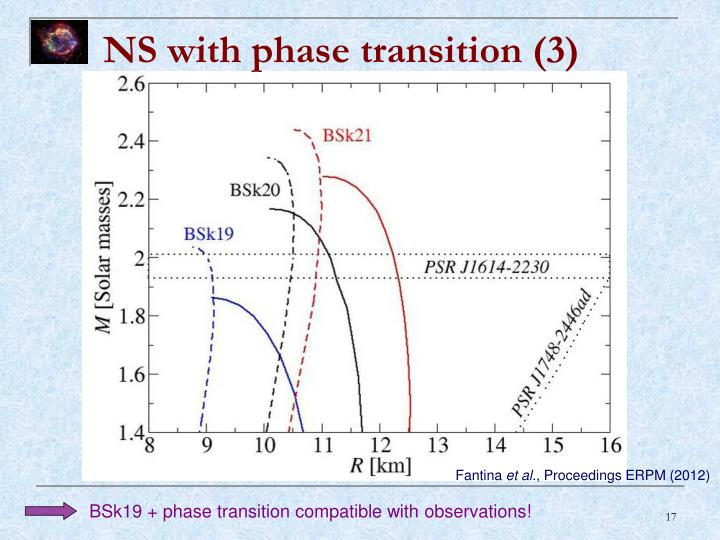 NS with phase transition (3)