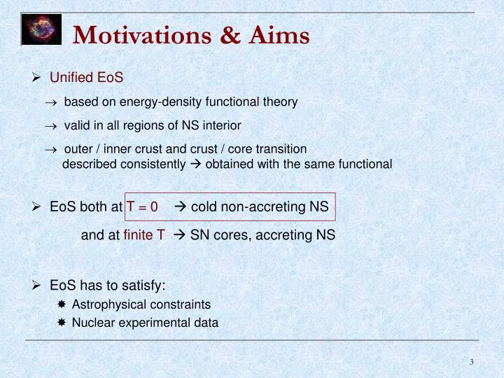 Motivations & Aims