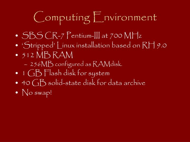 Computing Environment