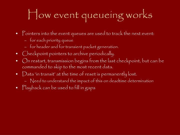 How event queueing works