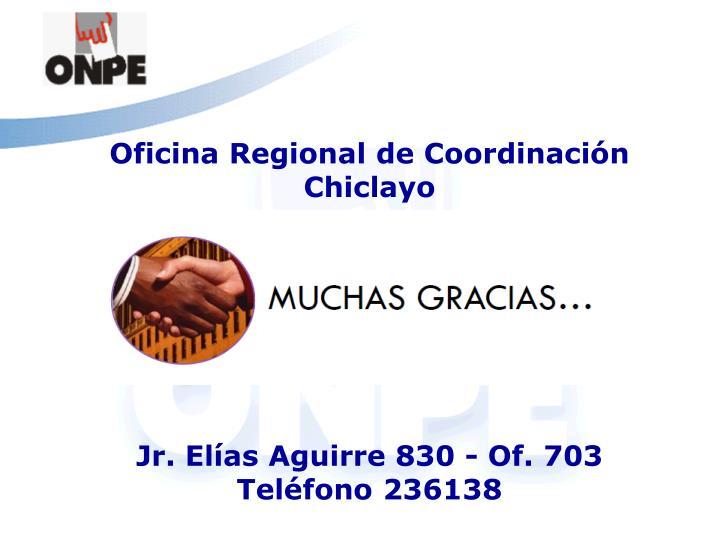 Oficina Regional de Coordinación