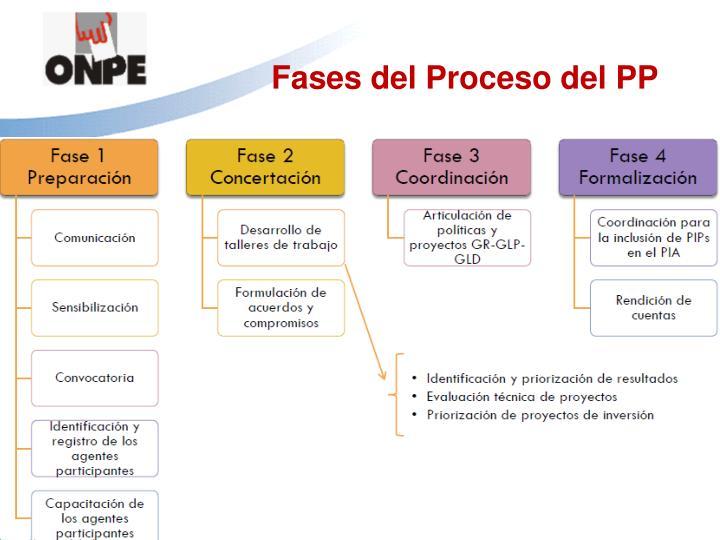 Fases del Proceso del PP