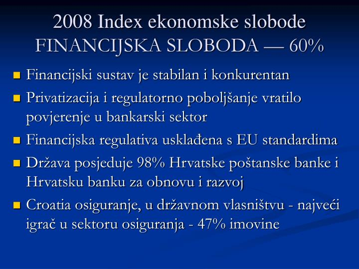 2008 Index ekonomske slobode