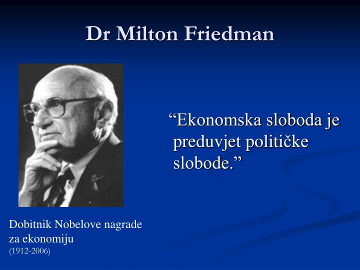 """""""Ekonomska sloboda je"""
