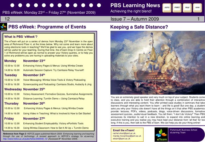 PBS Learning News