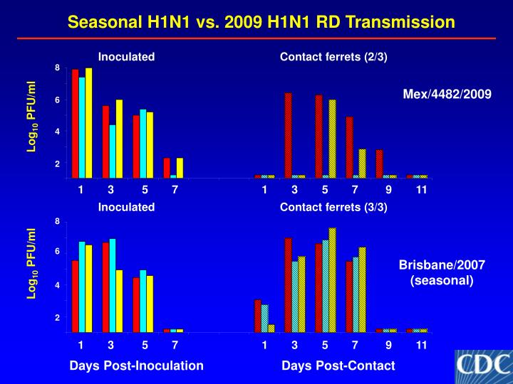 Seasonal H1N1 vs. 2009 H1N1 RD Transmission