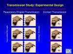 transmission study experimental design