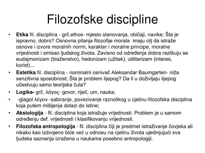 Filozofske discipline