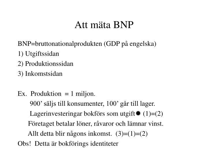 Att mäta BNP
