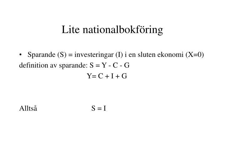 Lite nationalbokföring