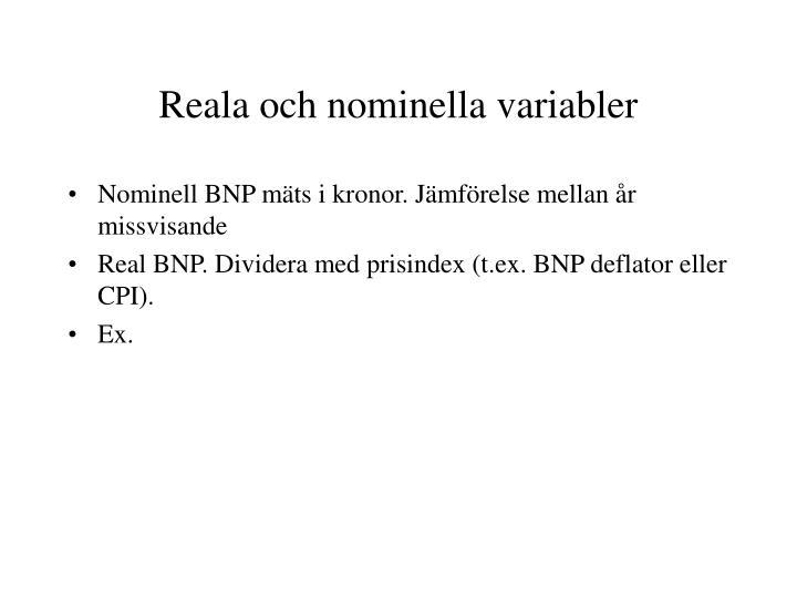 Reala och nominella variabler