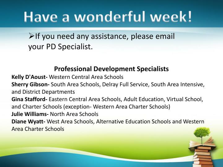 Have a wonderful week!
